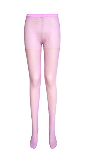 Damen Netzstrumpfhose 8 Farben (kleine Netze, 2 Paare Baby Pink) (Netzstrumpfhose Rosa)