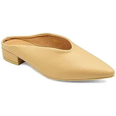 tresmode Women's Beige Ballet Flats