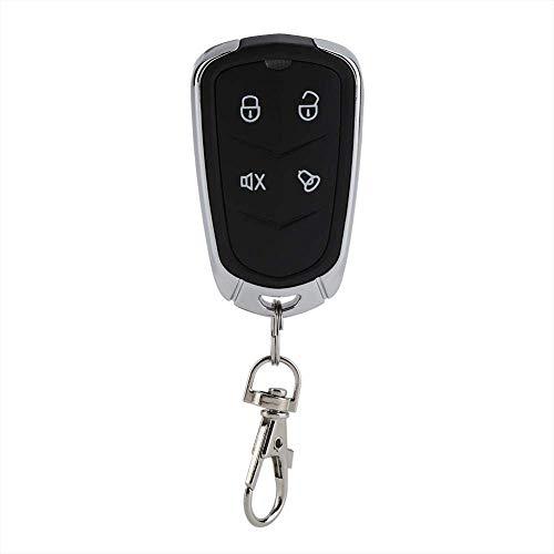 Fdit Universal Fernbedienung Deckenventilator Auto Mini Kit Empfänger 433 MHz Garage Gate Alarm Türöffner 4 Knopf schwarz (Garage Türöffner-alarm)