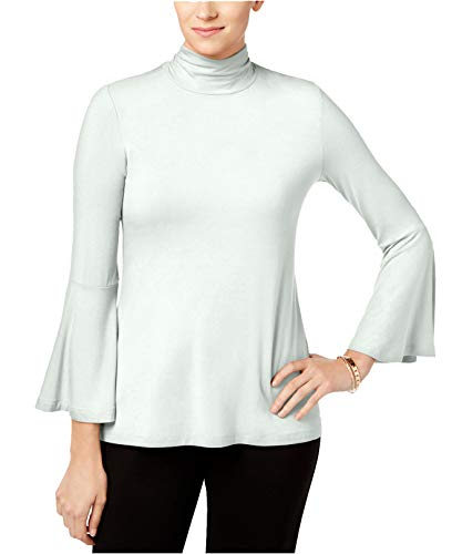 Alfani Damen Mock-Neck Bellsleeve Top - Elfenbein - X-Groß Alfani Mock Neck