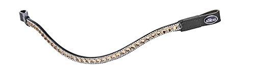 Busse Stirnband Diamond, Warmblut, Schwarz/Strass-Braun-weiß -