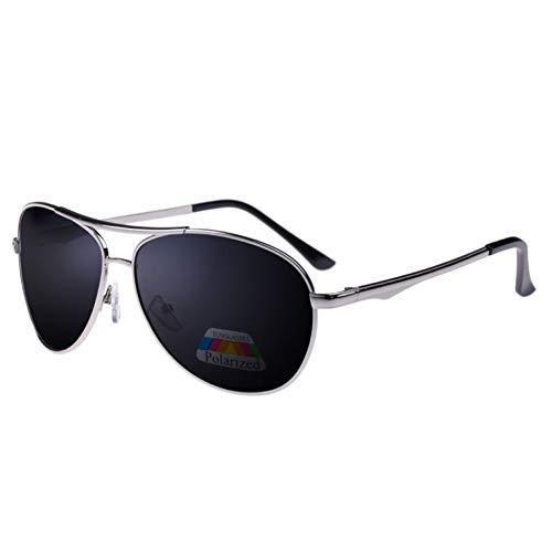 SYQA Sonnenbrille Qualität Männer Sonnenbrille Legierung Rahmen Klassische Polaroid Marke Glaslinse Polarisierte Sonnenbrille,C6