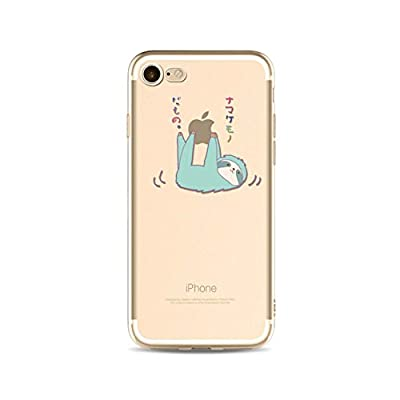 LaiXin Handyhülle Tasche für iphone7/7s(4.7zoll) Aquarell design TPU Schöne Backcover silicone Plastik Kratzfeste Anti Finger Ultradünnen Weich Bumper Schale-Grün/Apfelgrün