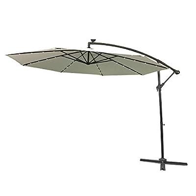 LARS360 Ø300cm Aluminium Sonnenschirm Marktschirm Balkonschirm Gartenschirm Ampelschirm Kurbelschirm Gartenschirm UV40+ Schutz von Generic auf Gartenmöbel von Du und Dein Garten