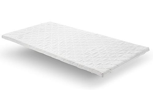 Nova Sleep Topper 120x200 cm Visco Topper H2 Weich RG 50m³ mit Kernhöhe 6 cm, Gesamthöhe 7 cm, 250 Gramm. Klimawatte Art. Nr. 17-V6-BPIK-120