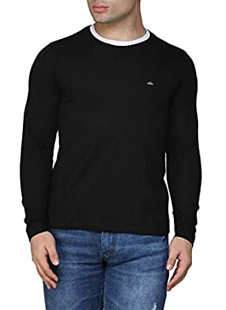 Fenoix Men's Cotton T-Shirt B0794W9XHV_Black_S