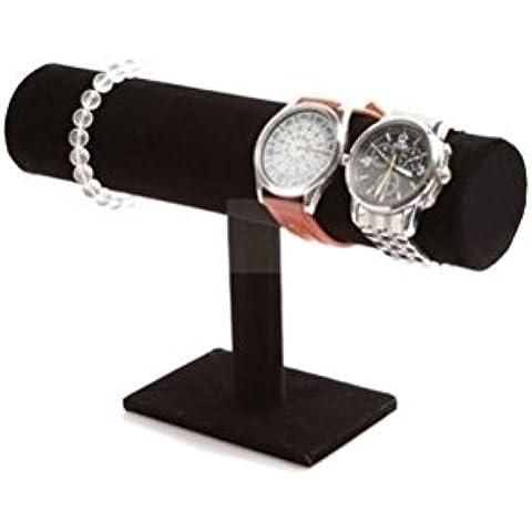 1 mostrador de escaparate/ estante de mostrador con bara en forma de T negro para disponer joyería de nivel, pulseras, collares, relojes, pulsera, col [version:x5.6] by DELIAWINTERFEL