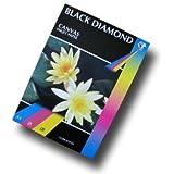Lot de 100 feuilles de 2 Paquets de 50 feuilles Black Diamond A3/220 g/m² Mat Blanc texturé haute résolution (7220 dpi) de Papier jet d'encre Papier texturé, Pas 100%  toile de coton)