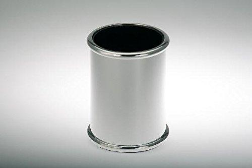 Stiftehalter rund glatt poliert H 9,0cm D 7,0cm versilbert Versilbert