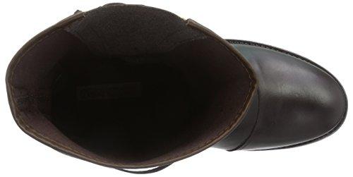 Buffalo London  ES 30438 GARDA DOUBLE FACE, Bottes de motard de hauteur moyenne, doublure froide femmes Marron (Castanho 05)