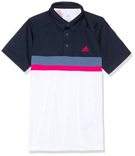 adidas Jungen Club Colorblock Kurzarm Polo-Shirt, Legend Ink, 170