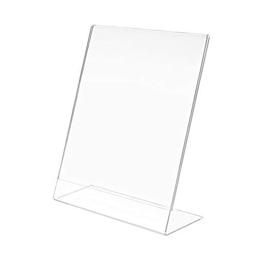 Wallazz porta listino e portafoto da appoggio in plexiglass in stile moderno e minimalista, dimensione 13x18 cm verticale, colore trasparente