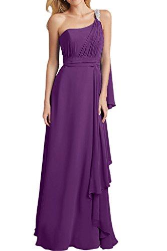 Royaldress Gruen Chiffon Abendkleider Brautjungfernkleider Partykleider Lang A-linie Chiffon Rock Traube