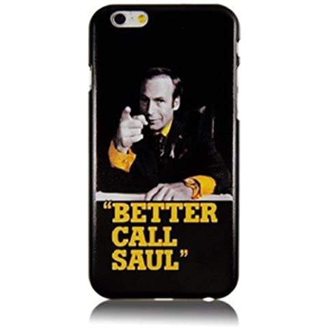 "NdB 1584 - Cover Case Custodia per iPhone 6 e 6S 4.7"" Stampa Better Call Saul Nera BrBa - Rigida"