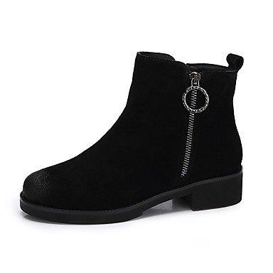 RTRY Scarpe Da Donna In Pelle Nubuck Autunno Inverno La Moda Stivali Stivali Per Casual Giallo Nero US6 / EU36 / UK4 / CN36