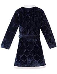 Pajamas Traje de Pijama, Algodón con Bolsillos Albornoz, Pijama de Invierno, Pijama de poliéster Engrosamiento Se Puede Usar afuera Traje de baño Albornoz (Manga Larga),160 (M)