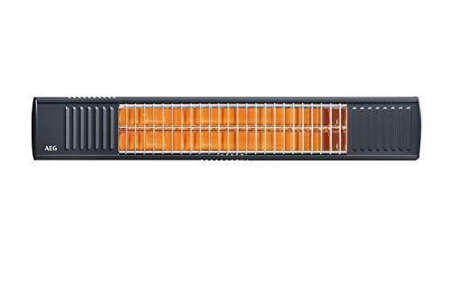 AEG Terrassen-Heizstrahler IR Premium 2000 H A, 2 kW, hochheffiziente Qualitäts-Goldröhre, anthrazit, 234789
