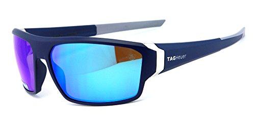 TAG Heuer Herren Sonnenbrille Blau dunkelblau Medium