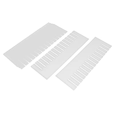 Sourcingmap Plante décorative en Plastique DIY Grille séparateur de tiroir-Accessoires de Rangement Lot de 6Blanc cassé