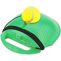 Gravere Entrenador de Tenis Rebounder Pelota, Zócalo cementado con Cuerda Solo Equipo Práctica Ayuda de Entrenamiento Servir Tolva Base de Ejercicio Deportivo Autoestudio Potencia de Rebote