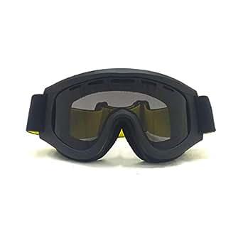 Aooaz Occhiali Occhiali di protezione da sci cilindrici di TPU con ampio campo di osservazione Anti-nebbia e sabbia