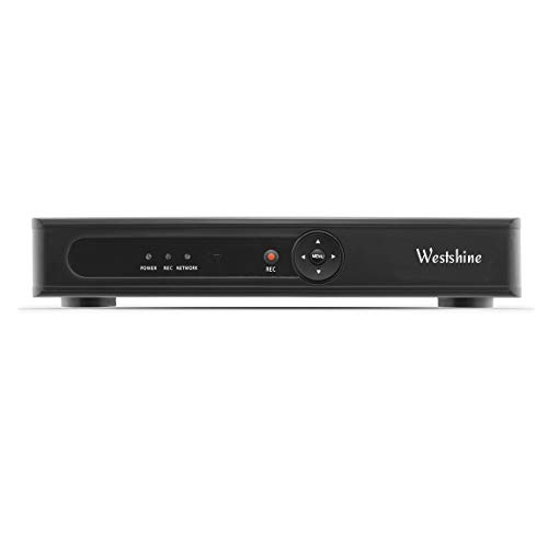 Westshine 4 Channel 1080P DVR für Sicherheits-CCTV-Kamera System, H.265 Hybrid AHD/TVI/CVI/CVBS/IP/XVI 6 in 1 Digital Video Recorder, Unterstützung für P2P-Fernzugriff/Bewegungserkennung/HDMI-Ausgang 4 Kamera Dvr-system