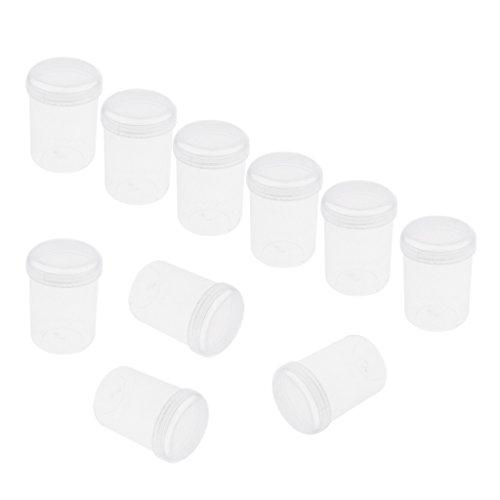 Sharplace 10pcs 20g Pot Vide Rond en Plastique avec Couvercle Cosmetic Container Rangement pour Crèmes Stockage Onguents Toners - Unique Taille