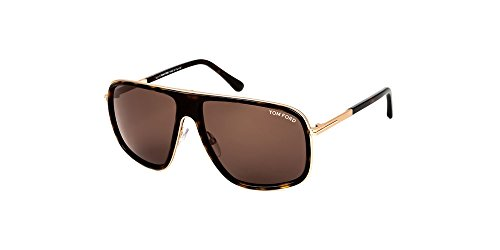 Tom Ford Sonnenbrillen Für Mann 0463 52K, Doleful Tortoise / Brown Gradient Metallgestell
