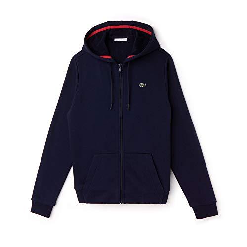 Lacoste Sport Damen Sweatshirt Sf1550, Blau (Marine/Goji Ea1), 34 (Herstellergröße: 36)