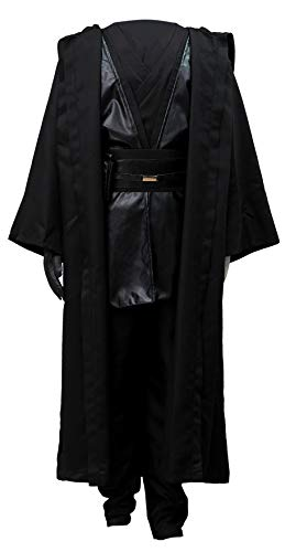 Chong Seng CHIUS Cosplay Costume Black Jedi Master Outfit for Anakin Skywalker Version 1 (Jedi Knight Outfit)