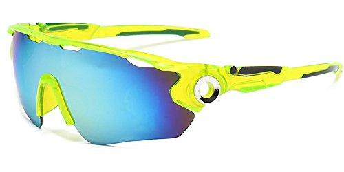 Dauco occhiali da sole sportivi uomo, polarizzati, super leggero e infrangibile protezione uv con lent,per ciclismo,bici,moto,trekking casual