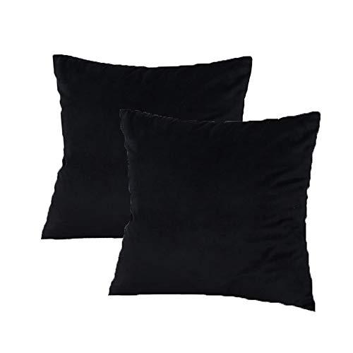 GLin Fundas de cojín (Terciopelo Almohada Decorativa Funda de cojín para sofá Dormitorio Cojín 45x 45cm Juego de 2
