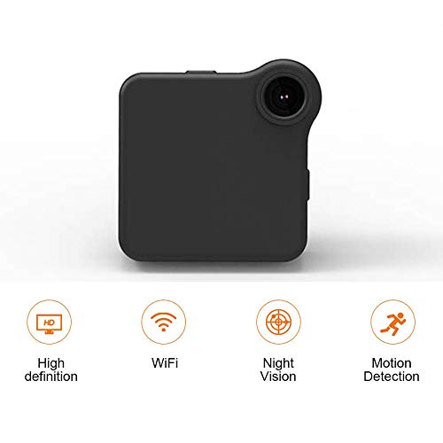 TONGTONG WiFi-Kamera Mini HD 720P Portable Micro Cam Motion mit Weitwinkel-Bewegungserkennung Nachtsicht - Recorder Motion Voice Sensor