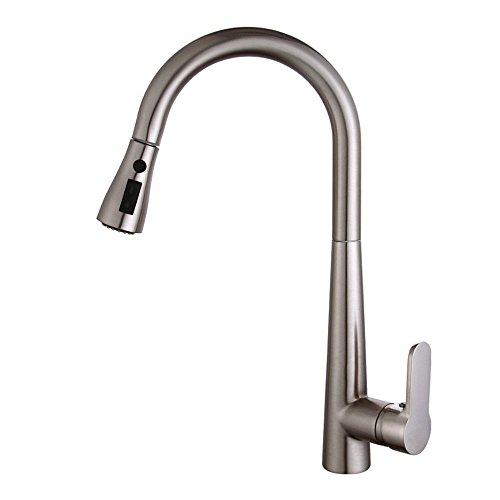 Gyps Faucet Waschtisch-Einhebelmischer Waschtischarmatur BadarmaturKüche Wasserhahn Ziehen Sie die ausziehbare gebürstet Wasser Badewanne mit Duschkopf Kupfer Kaltes Wasser Khaki Taps -