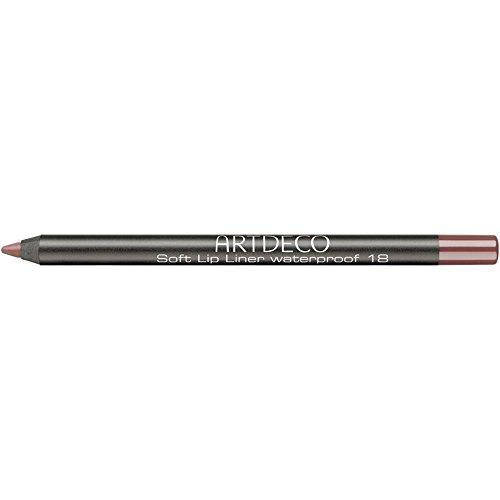 Artdeco Soft Lip Liner Waterproof unisex, Wasserfester Lippenkonturenstift farbe: 18 brown rose, 1er...