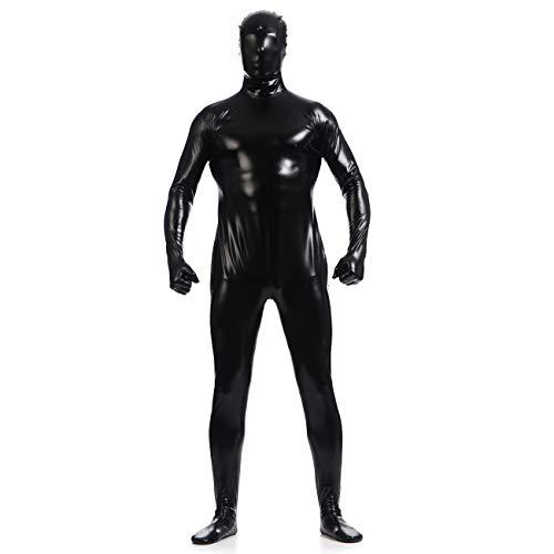 unbrand Erwachsene Frauen Kinder Ganzkörper Jumpsuit Spandex Zip Up Body Zentai Morph Unsichtbare Cosplay Mens Fancy Dress ()