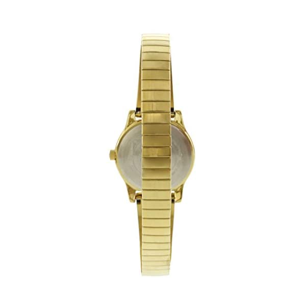 Timex Women's Stretch Bangle TW2R92900 Gold Stainless-Steel Analog