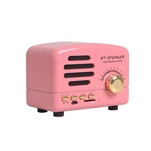 MCLseller Retro Mini Bluetooth Lautsprecher, Pocket Mini Radio Retro Bluetooth Radio AM FM Stereo Empfänger Unterstützung TF Karte USB Holzmaserung Perfekt für Zuhause, Auto, Reisen