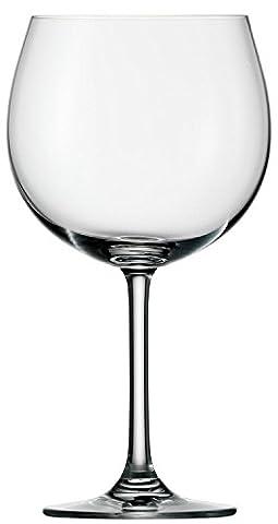 Stölzle Lausitz Burgundy Red Wine Glasses Weinland, 650 ml, set of 6, dishwasher proof red wine goblets, voluptuous Burgundy glasses