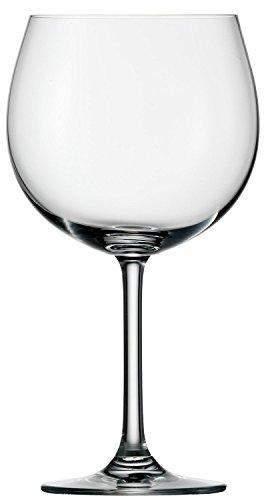 Bicchieri da vino rosso Burgunder Stölzle Lausitz della serie Weinland, 650ml, set da 6, bicchieri Burgunder resistenti ai lavaggi in lavastoviglie, ballon panciuti da vino rosso