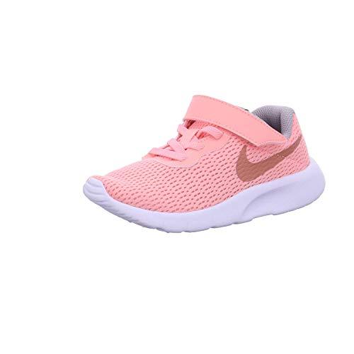 Nike Mädchen Tanjun (PSV) Laufschuhe, Pink Tint/MTLC Rose Gold/Atmosphere Grey 607, 33 EU