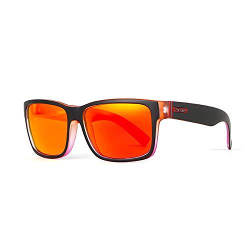 LHXHL Sonnenbrille Eckig Unisex Polarisierte Mit UV400 Schutz für Outdoor Sports Quadratische polarisierte Sonnenbrille Bunte Waffen-Sport-Sonnenbrille Polarisiert Pilotenbrille Fahrerbrille