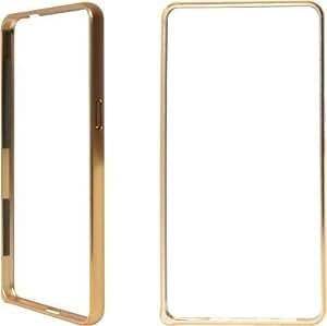Micomy Metal Dual Gold Line Bumper Case for Samsung Galaxy A3 -Gold