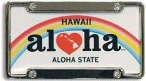 Hawaiian Magnet Heart of Hawaii License Plate & Frame by Welcome to the Islands
