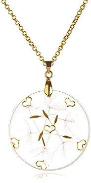Golden Hearts– Wünsch Dir Was Halskette   Echte Pusteblumen Halskette   Glücksbringer   Handgefertigter echter