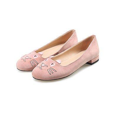 Confortevole ed elegante piatto scarpe donna Appartamenti Primavera Estate Autunno altri Suede Office & Carriera Party & abito da sera tacco piatto nero rosa grigio Pink