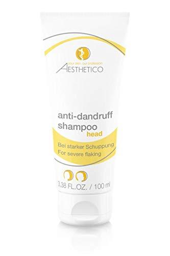 Intensive Anti-schuppen-behandlung Shampoo (AESTHETICO anti-dandruff shampoo - 100 ml - Intensivshampoo mit Selendisulfid und Teebaumöl bei starker, hartnäckiger Schuppenbildung, betainfrei)