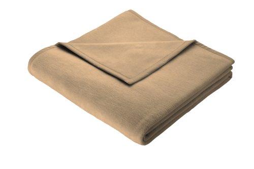 Biederlack Wohn- und Kuscheldecke, 86% Polyacryl (Dralon), Veloursband-Einfassung, 150 x 200 cm, Kamel, Thermosoft, 240813 (3x5 Wolldecke, Die)