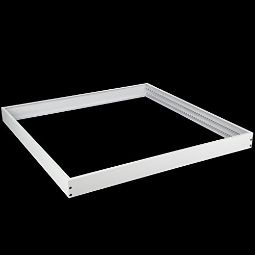 OUBO led panel 62x62 Aufbaurahmen Aufputz-Rahmen Deckenmontage Wandmontage Deckeneinbau Deckenbefestigung Set weiß