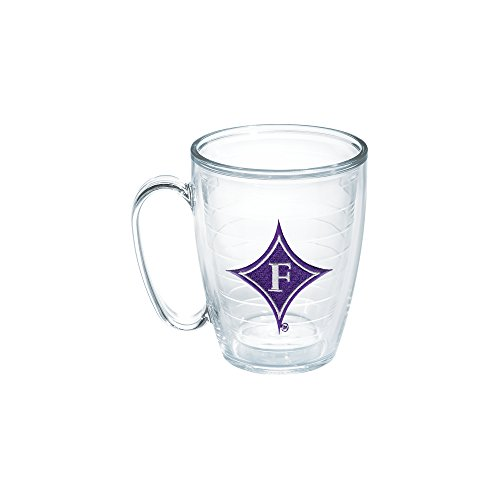Tervis 1056567 Furman University Emblem Individual Mug, 16 oz, Clear